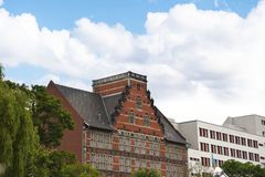 Architecture on the banks of the River Spree in Berlin Germanu royalty free stock images