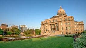 Capital city Boise Idaho and park Royalty Free Stock Photo