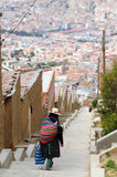 Capital city of Bolivia - La Paz Stock Photo