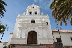 The capital city of Bolivia - Sucre has a rich colonial heritage, evident in its buildings, street-scapes and numerous churches. In 1991 Unesco site, now it`s Stock Photo