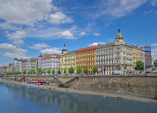 Capital city of Czech Republic, Prague. View of historic buildings and river in Prague, Czech Republic Stock Photo