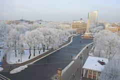Capital city of Latvia Riga. Capital city of Latvia Riga in a cold winter day Stock Photography