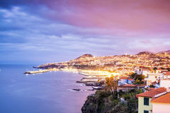 Capital city of Madeira, Funchal, Portugal. Beautifully located capital city of Madeira, Funchal, Portugal stock photo