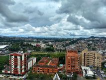 The capital city Pereira Colombia. The bad wather in the moment but the sun say good bye Royalty Free Stock Photo