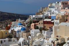 Capital city of Santorini - Thira Royalty Free Stock Images