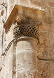 Capital of column of Church of the Holy Sepulchre Stock Photo
