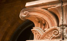 Capital of Column Detail. Close-up shot of the capital of a column Royalty Free Stock Images