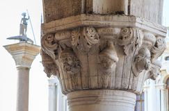 Capital of the column on the Piazza San Marco. Summer day Stock Images