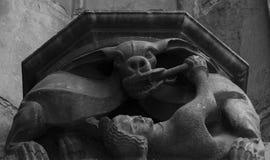 Capital con las figuras por la parte 7 de la catedral imágenes de archivo libres de regalías