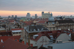 Capital of Croatia-city of Zagreb Stock Photography