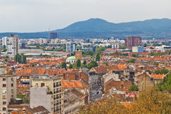 Capital of Croatia Zagreb western part Royalty Free Stock Photography