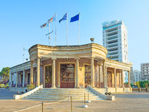 The capital of Cyprus. Municipality building of Nicosia, located at Eleftheria Square, Cyprus Stock Images