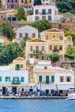 A capital da ilha de Symi - Ano Symi Greece Imagens de Stock Royalty Free