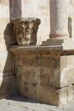 Capital dans le théâtre romain d'Amman, Jordanie Image libre de droits