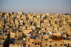 Capital de Amman de Jordan Houses Pattern Panorama foto de stock royalty free
