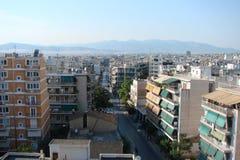 Capital de Atenas Greece 06 16 2014 A paisagem da cidade de Atenas antiga da altura do monte da acrópole Fotografia de Stock