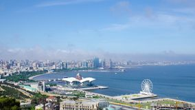 Capital de Azerbaijan moderna, ciudad Baku metrajes