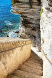 Capital de Bonifacio -de Picturesquede Córcega, Francia Imágenes de archivo libres de regalías