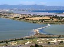 Capital de Cagliari de la isla Cerdeña Italia imagen de archivo