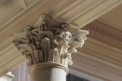 Capital de colonne néoclassique images libres de droits