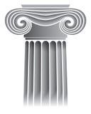 Capital de columna iónico stock de ilustración