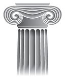 Capital de coluna iónico Foto de Stock