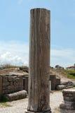 Capital de coluna Ionian, imagem de stock