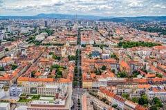 Antena de Zagreb fotografía de archivo