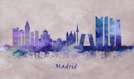 Capital de España, horizonte de Madrid ilustración del vector