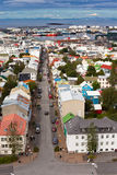 Capital de Islândia, Reykjavik, vista Imagem de Stock