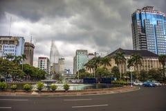 Capital de Jakarta de Indonesia imágenes de archivo libres de regalías