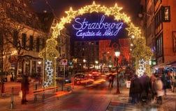 Capital de la Navidad de Estrasburgo Imagenes de archivo