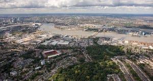 Capital de los negocios de Europa, Londres Foto de archivo libre de regalías