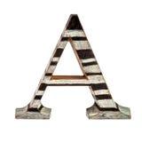 Capital de madeira uma letra Fotos de Stock