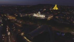 Capital de Tbilisi de Georgia Vista aérea del centro de Tbilisi almacen de video