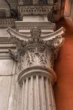 Capital decorativo de la columna fotos de archivo libres de regalías
