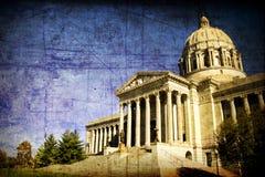 Capital del Estado envejecida de Missouri Foto de archivo