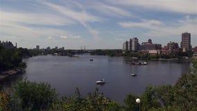 Capital del ` s de Canadá de Ottawa en un día soleado almacen de metraje de vídeo