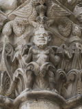 Capital Devil on Pilar Church Chatellerault Royalty Free Stock Images