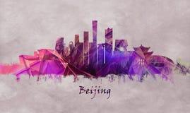 Capital do Pequim de China, skyline ilustração stock