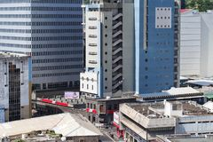 Capital do Port-Louis da skyline do negócio de Maurícias Fotografia de Stock