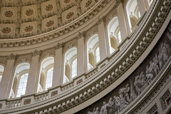 Capital Dome Inside Curve Right Stock Photography