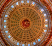 Capital Dome. An interior view of the capital dome in Madison, Wisconsin Royalty Free Stock Photo