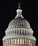 Capital Dome at Night. This is the dome of the US Capital building in Washington DC Royalty Free Stock Image