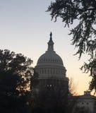 Capital en la noche Foto de archivo libre de regalías