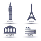 Capital europeia Fotografia de Stock Royalty Free