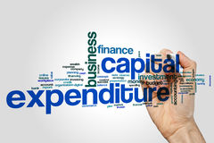 Capital expenditure word cloud concept  on grey background Stock Photography