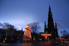 Capital Funfair. The Christmas market and funfair in Edinburghs Princes Street stock images