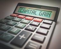 Capital Gain Calculator Royalty Free Stock Photos