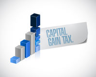 Capital gain tax business sign illustration design Stock Photos